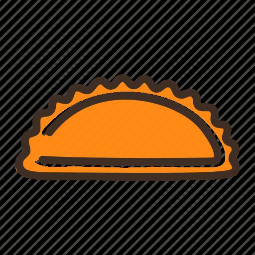 bake, bakery, cheburek, cookery, dough, fast food, gastronomy icon