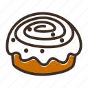 bake, bakery, cake, cinnabon, cookery, fast food, gastronomy icon