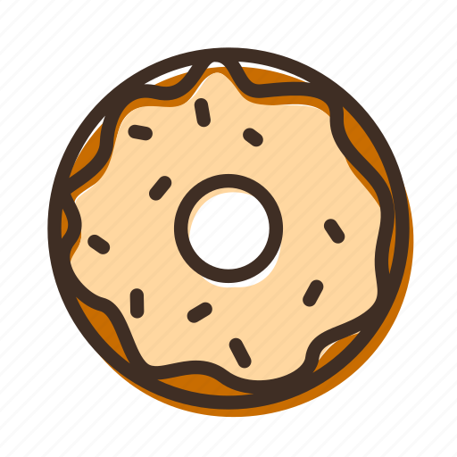 bake, bakery, cookery, donut, dough, fast food, gastronomy icon
