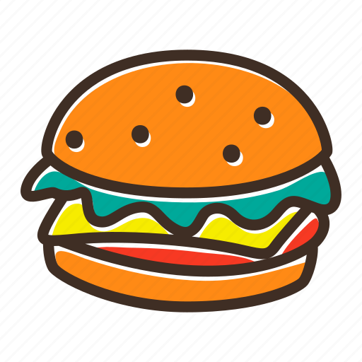 bake, bakery, burger, cookery, dough, fast food, gastronomy icon