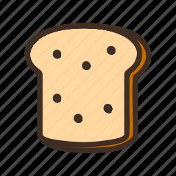 bake, bakery, bread, cookery, dough, gastronomy, toast icon
