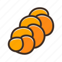 bake, bakery, cookery, dough, fast food, gastronomy, roll icon