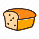 bake, bakery, bread, cookery, dough, gastronomy, loaf icon