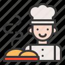 bakery, chef, gastronomy, restaurant, serve, shop