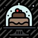baked, baking, cake, cakes, dish icon