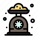 baking, cooking, kitchen, scale icon