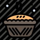 baked, baking, cooking, pie, tin icon