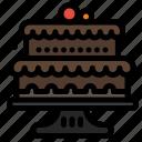 baked, baking, cake, cakes icon