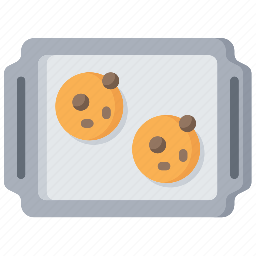baked, baking, cookies, cooking, tray icon