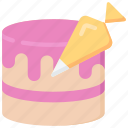 baked, baking, cake, cooking, piping icon