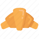 baked, baking, cooking, croissant, food icon