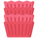 baked, baking, cases, cooking, cupcake, goods icon