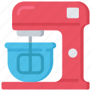 mixer, cooking, baking, electric, whisk, baked icon