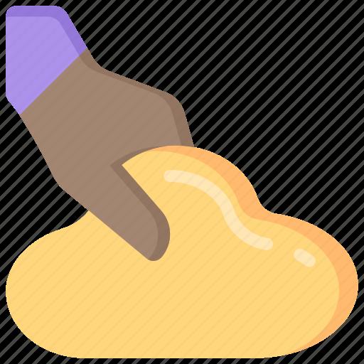 baking, cooking, dough, ingredients, kneeding icon