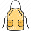 apron, baked, baking, chef, cooking icon