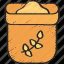 bag, baking, cooking, flour, ingredients, of icon