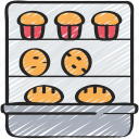 baked, bakery, baking, cooking, shop, stand icon