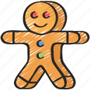 baked, baking, biscuit, cookie, cooking, gingerbread icon