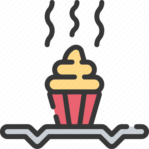 Baked, baking, cooking, cooling, muffin, rack icon - Download on Iconfinder
