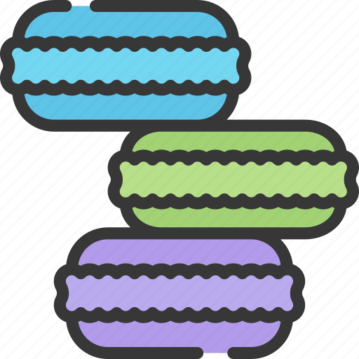 baked, baking, cooking, goods, macarons icon