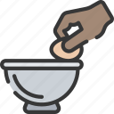 baked, baking, cooking, egg, eggs, mixing icon