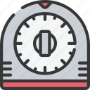 baked, baking, cooking, timer, timing icon