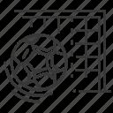 ball, football, goal, net