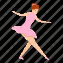 ballerina, hand, retro, toe, woman