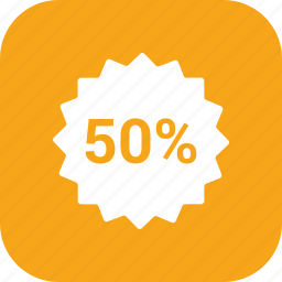 accounts, discount 50, label, promotion, sale, sale tag, tag icon