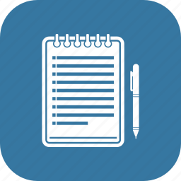 note, notepad, page, pen, text icon