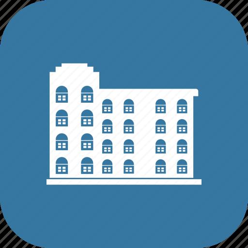 apartment, building, condo, minimalist icon