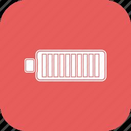 battery, full, half icon