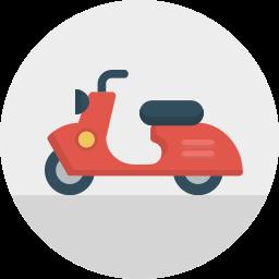 italy, motorbike, scooter, transport, travel, vespa icon