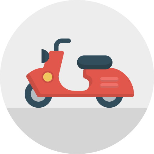 italy, motorbike, scooter, transport, travel, vespa icon