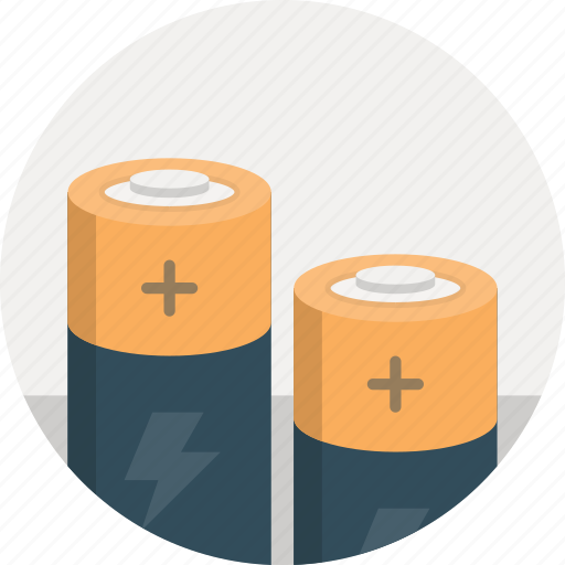 batteries, battery, charge, energy, rechargeable icon