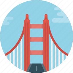 bridge, road icon