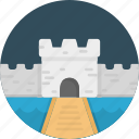 building, castle, fantasy, history, tower icon