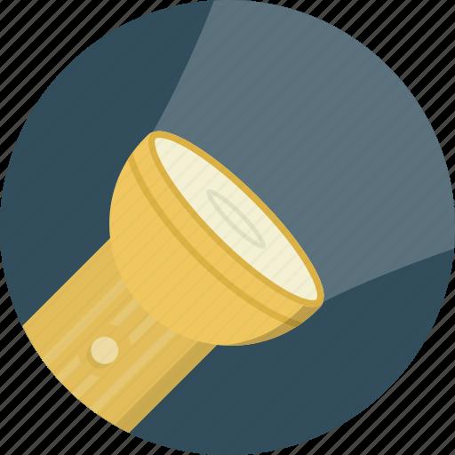 bright, flashlight, lamp, light icon