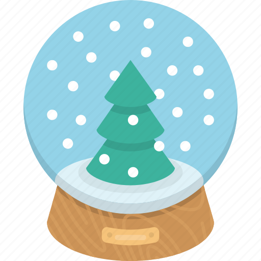 glass, present, snow, snowball, winter icon