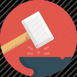 construction, hammer, work icon