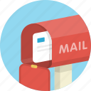 e-mail, email, envelope, inbox, letter, mail, mailbox