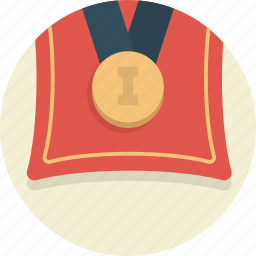 achievement, award, gold, medal, prize, win icon