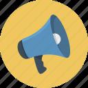 loudspeaker, megaphone icon