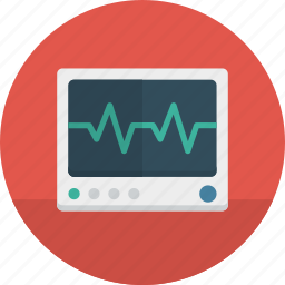 health, hospital, medical, monitor icon