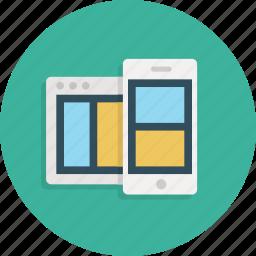 responsive, site, website icon