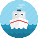 boat, cargo, cargo ship, cruise ship, delivery, logistics, ship icon