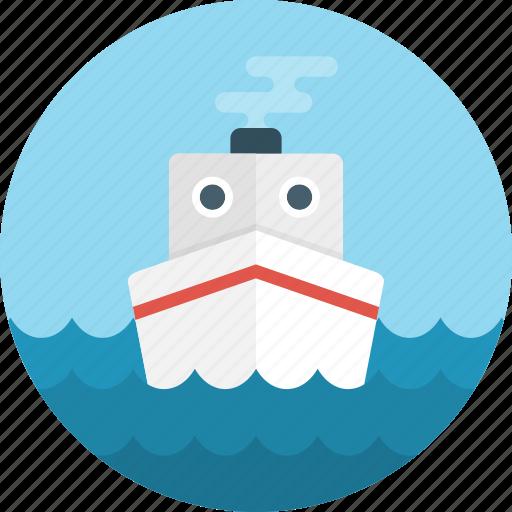 boat, cargo, cargo ship, cruise ship, delivery, logistics, ship icon