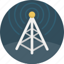 broadcast, communication, radio, signal, tower icon