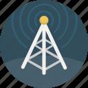 broadcast, communication, signal, radio, tower icon