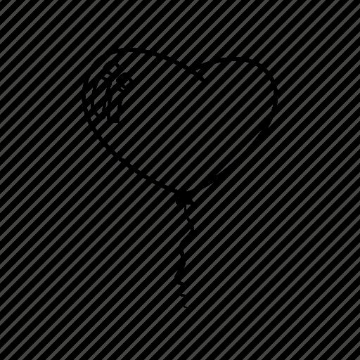 balloon, balloons, heart, heart balloon, love balloon, passion icon